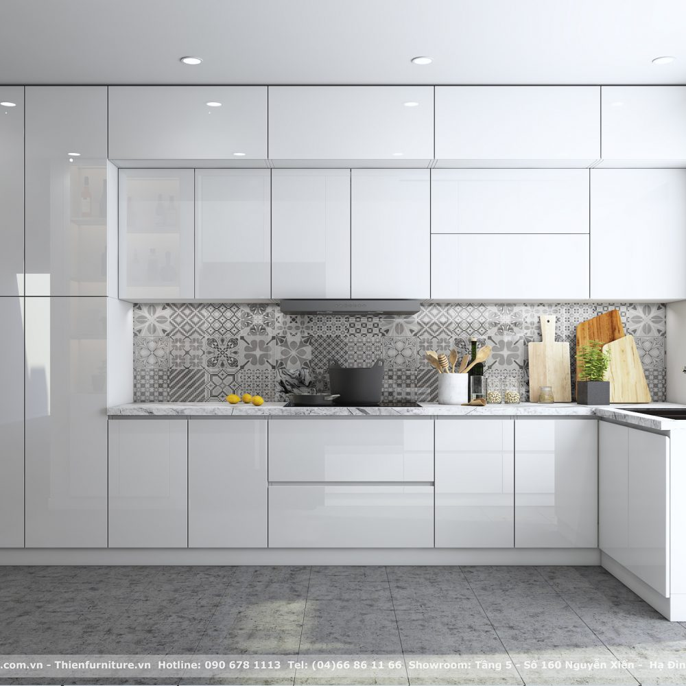 tủ bếp arcylic 01